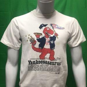 """90's NY Yankees """"Yankeeasaurus"""" Vintage T-Shirt"""